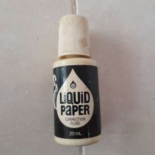 Liquid paper vintage