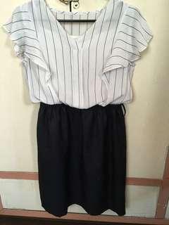 Stripes Corporate Dress
