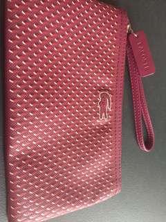 authentic lacoste pouch/wallet