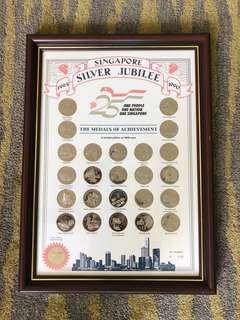 Singapore Silver Jubilee Coin set