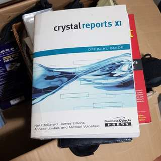 Crystal Reports XI book for sale