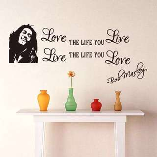 Bob Marley Love Quote Wall Stickers Decal