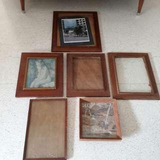 vintage wooden frames