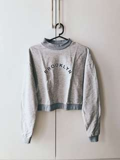 Brooklyn Gray Cropped Sweater