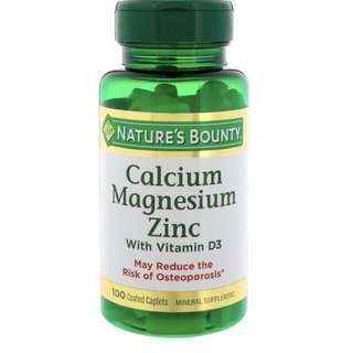 Calcium Magnesium Zinc with Vitamin D3/Health supplements/Bones health