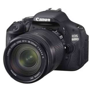 Canon EOS 600D (Body with EF-S 18-135mm IS II Lens) DSLR Camera