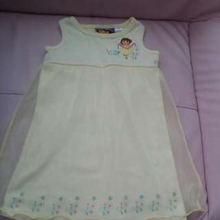 BABY CLOTHES MADE BY DORA COOLING LACES DRESS FOR 2-4YEARS.