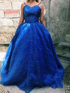 ROYAL BLUE BALL GOWN FOR RENT