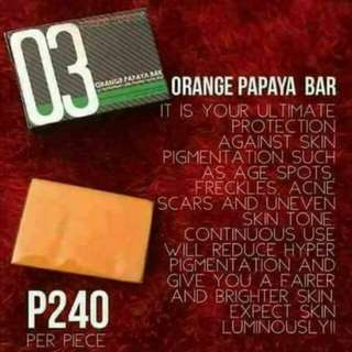 Luxxe Soap # 3 ( Orange Papaya Bar)