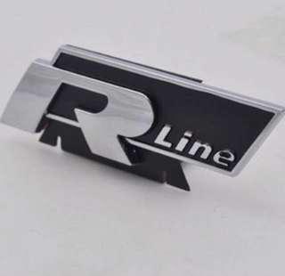 Volkswagen RLine emblem for front grille