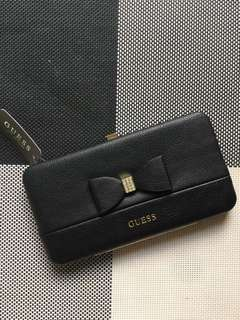 Guess Hardcase Wallet Bow Design in Black