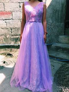 PURPLE ELEGANT LONG GOWN