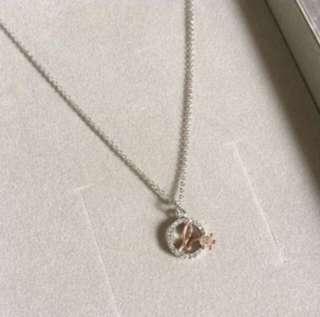 (NEW) Agnes b - Circle Swarovski Crystal Necklace $480