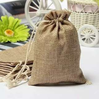 14 *20 cm  Jute Drawstring Gift package Storage Bags For Coffee Beans Great Gifts Stylish Reusable Bag