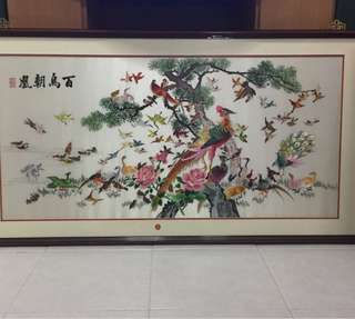 Chinese embroidery painting