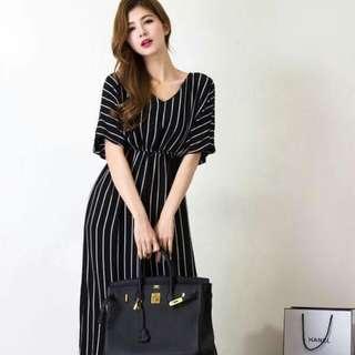 🍃Formal Striped Black Jumpsuit