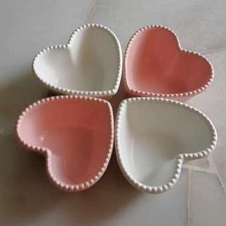 Porcelain Love Bowls ( 4 pcs set )