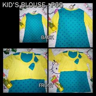 Preloved Kid's polkadot blouse