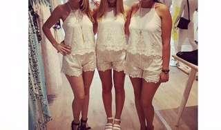 Bardot lace shorts size 8