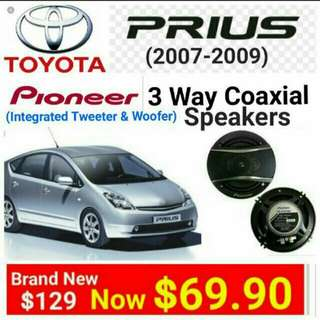 "[Brand new] Pioneer Car Speakers for.Toyota Prius(Year 2007-2009 Model) Cars.  Pioneer 3 way Coaxial Car speaker -320watts 6.5""/16vm Coaxial Speaker.  model TS-A1676.(UP: $129 Special Offer: $69.90. Whatspp 85992490 to collect today."
