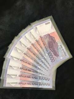 Indonesia Sepuluh Ribu Rupiah 10000 With Solid Number