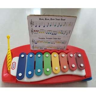 Xylophone Little tikes with wheels. Durable light and safe. Like new