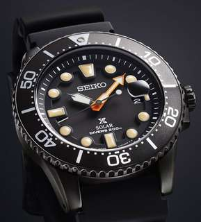 精工全新行貨Seiko Prospex SNE493P1 The Black Series光動能 深潛 200米防水手錶 43.5mm 全球保養
