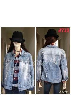 J713全新美國潮牌Reserved刷舊刷破牛仔單寧外套denim jacket J-Lounge