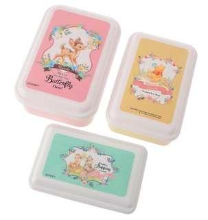 日本代購-日本製迪士尼食物盒(1套3個)