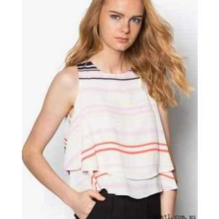 MDS collections Sebella Stripe Crop Top #MFEB20