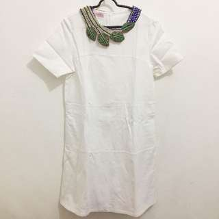 Ramune White Dress + sell with necklace