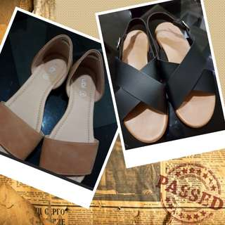 REPRICED⬇!Pre-loved Sandals: Two pairs for P300 only!
