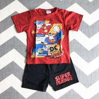 D.C. Superheroes Shirt & Shorts Set