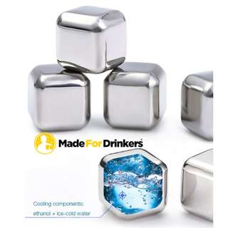 🚚 #CarouPay Food Grade Stainless Steel Whiskey Cubes