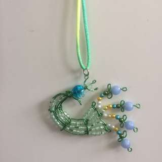 Peacock Wirecraft Pendant Necklace  [gifts handmade uncle.anthony uncle anthony uac 2bump]