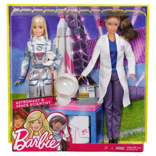 Brand New Barbie Doll Astronaut and Space Scientist Play Girls Toys Dolls 2PK