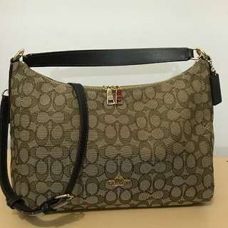 Coach Celeste Small size 30x22 Signature Brown (two ways bag, shoulder and crossbody)
