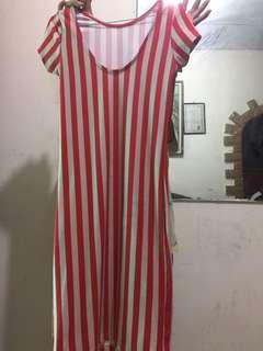 Striped dress body