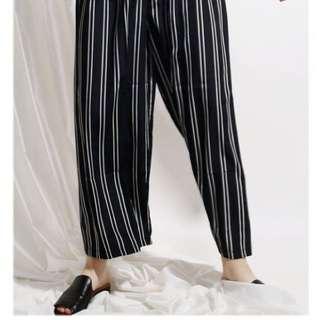 celana kulot stripe/stripes cullote/wide leg
