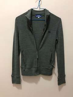 Burberry dark grey wool jacket 灰色冷褸
