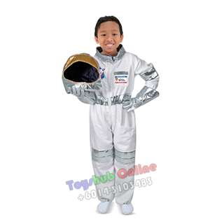 Kids Role Astronaut Costume Cosplay Smart Occupation 4-8Year