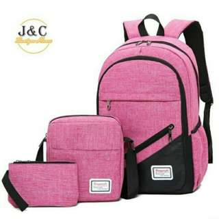 """Fashion Casual 18"""" Travel Business 3 in 1 Back Pack"""