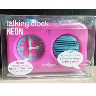 Smiggle Talking Two-Tone Alarm Clock