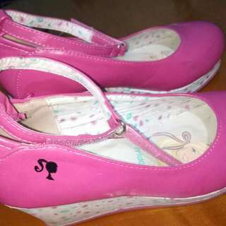 Barbie wedge shoes 5-7yrs old