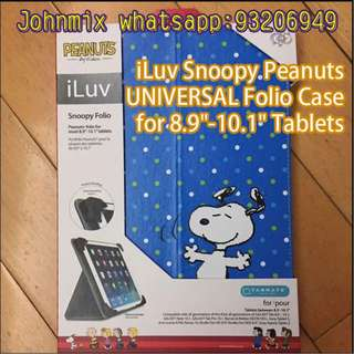 """iLuv Snoopy UNIVERSAL Folio Case for Most 8.9""""-10.1"""" Tablets"""