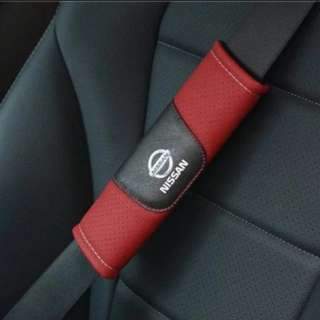 For Nissan: Brand New High Quality Car Leather Seat Belt Seatbelt Cover Shoulder Pad for Nissan Qashqai X-Trail Note Sylphy March Elgrand GT-R