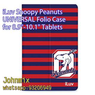 "iLuv Snoopy UNIVERSAL Folio Case for Most 8.9""-10.1"" Tablets"