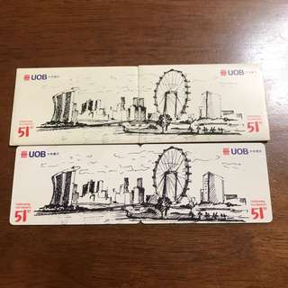 Limited Edition UOB SG51st NETS Flashpay Card