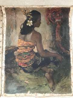 2 Paintings of Balinese dancers for $400
