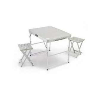 Aluminum foldable set table and 2pcs chair
